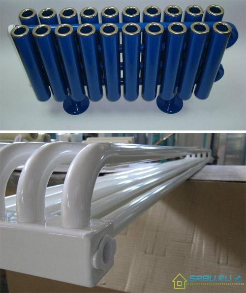 Варианты исполнения трубчатых радиаторов