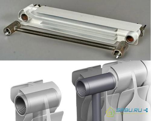 Строение биметаллических радиаторов отопления