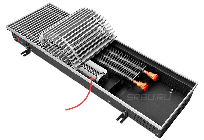 Водяной конвектор с тангециальным вентилятором