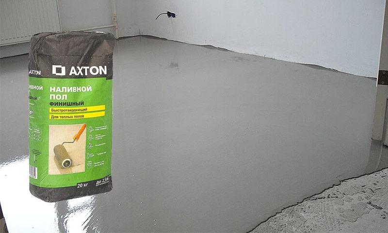 Наливной пол axton 20 кг полиуретановый лак тистром купить в москве