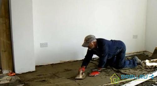 Цена стяжки пола песчано цементным раствором коронка по бетону для розетки купить в москве