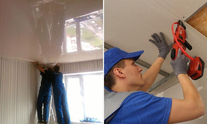 Какой потолок лучше натяжной или подвесной - практические советы