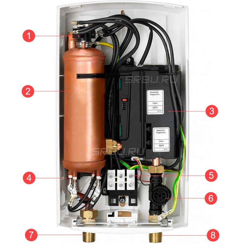 Устройство проточного электрического водонагревателя