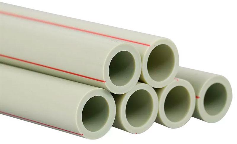 Полипропиленовые трубы с красной полосой