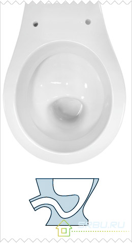 Тарельчатая чаша унитаза