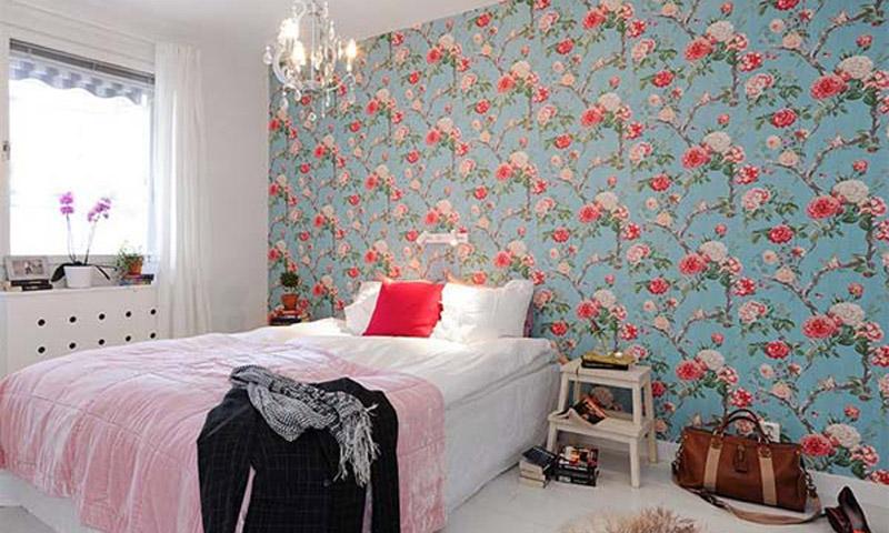 Обои в спальню комбинированные фото дизайн а
