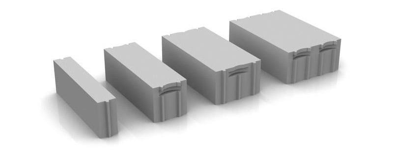 Типоразмеры газосиликатных блоков