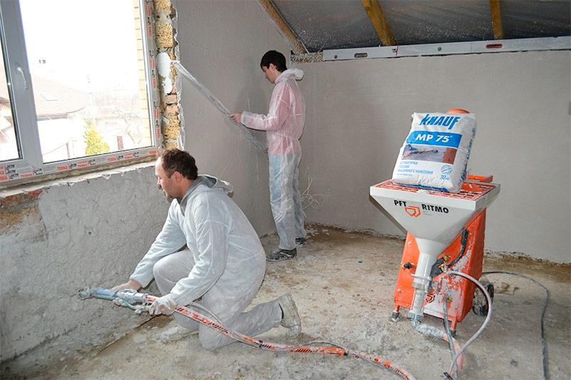 Мокрый способ отделки стен