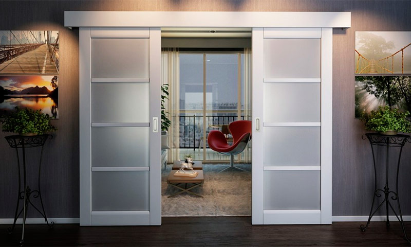 Варианты и виды исполнения раздвижных межкомнатных дверей