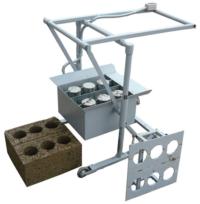 Форма для пустотелых керамзитобетонных блоков