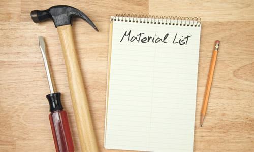Список необходимых материалов и инструментов