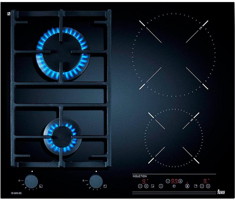 Комбинированная варочная панель индукционного газовая