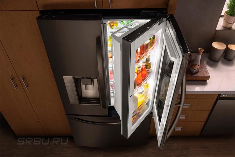 Холодильник дверь в двери