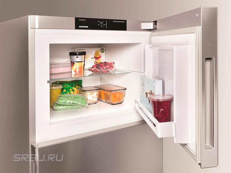 Ручка утопленная в дверцу холодильника