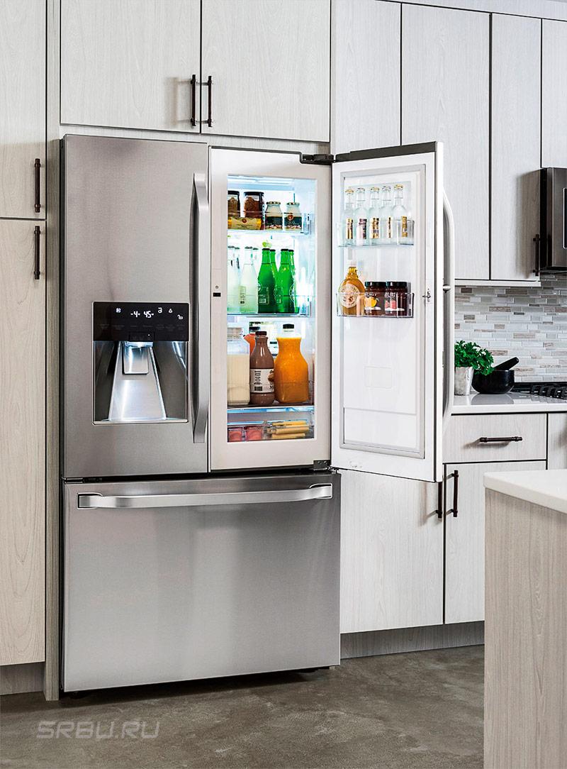 Частично встроенный холодильник